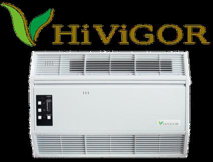 業務用空気清浄機ハイビガーのロゴ、商品写真