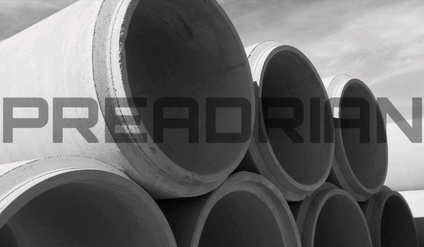 Tubos de hormigón, tuberías de hormigón.