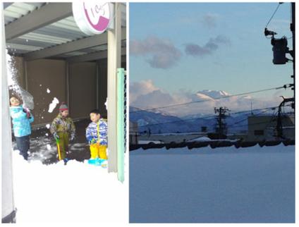 森充ギター教室の大雪、白山がたいそう美しく