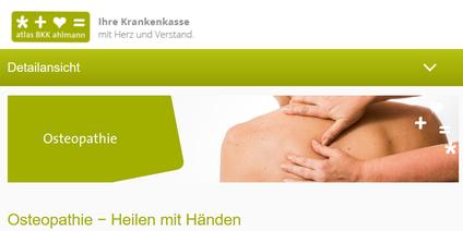 Osteopathie atlas BKK ahlmann | Ihre Krankenkasse - Osteopathie und Kinderosteopathie in Duisburg, Moers, Oberhausen, Krefeld, Düsseldorf und Umgebung