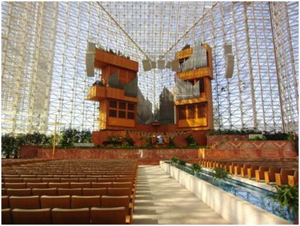 Crystal Cathedral Anaheim von innen