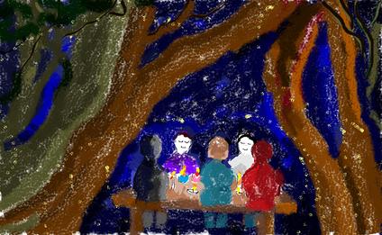 9a passeggiata - Il bosco racconta - disegno di Wilma Camatti