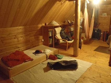 Schlafplatz auf einem Biohof