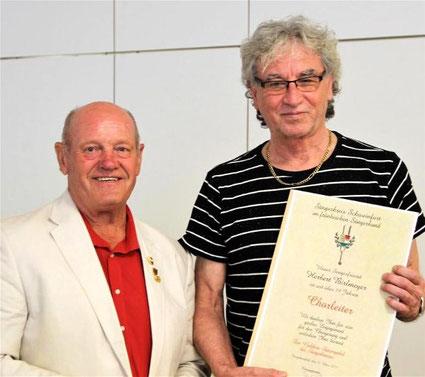 Goldene Stimmgabel für Herbert Bierlmeier -  GV Eintracht 1929 Stammheim -2017