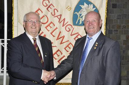 Ehrung - 45 Jahre - Ernst Hartl - Chorleiter Edelweiß Winkels -2018