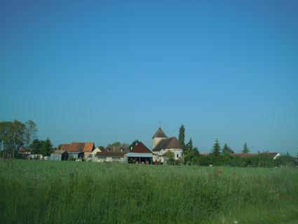 Vue du village de La Chapelle-Orthemale