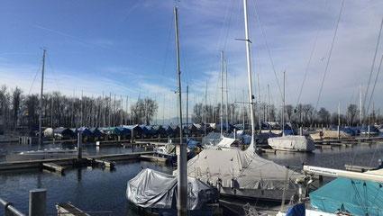 15.02.2014 und viele Boote im Winterlager