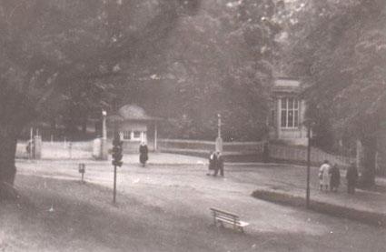 Eingang zum Kurpark 1950er - Archiv W.Malek