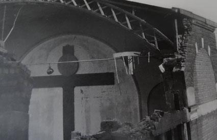 Ausgebombter Kirchsaal von St. Barbara