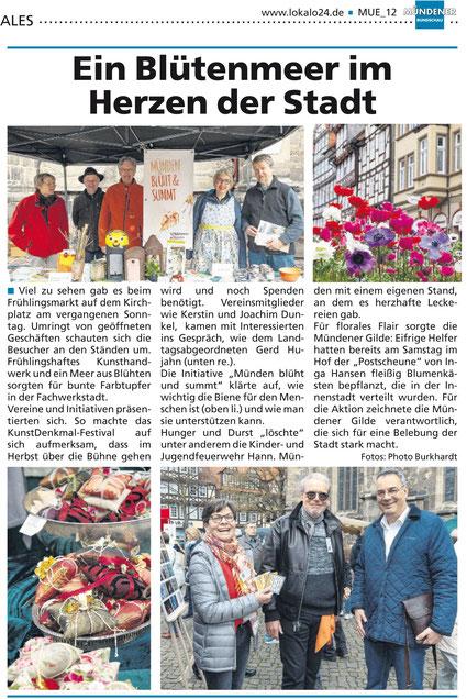 Unser Stand auf dem Frühlingsmarkt in Hann. Münden 2019