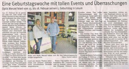 Norddeutsche Zeitung Februar 2012