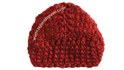 Paso a paso  gorro tipo turbante tejido en ganchillo tunecino f320b1c8e91