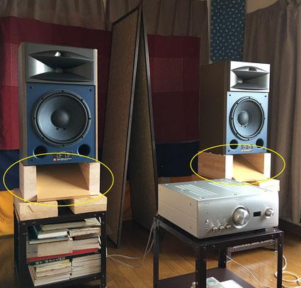 ハードメープル集成材 オーディオ スピーカー台