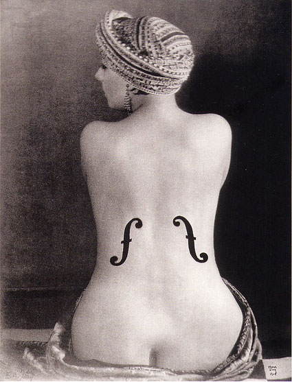 Man Ray - Ingres' Violin. 1924
