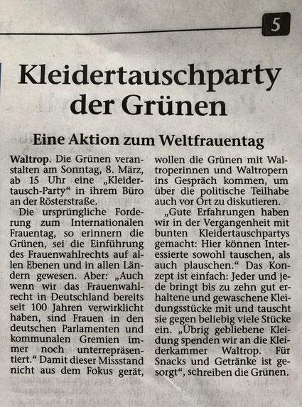 Artikel aus der Waltroper Zeitung (vom 06.03.2020)
