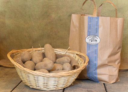 lose und abgepackte Kartoffeln
