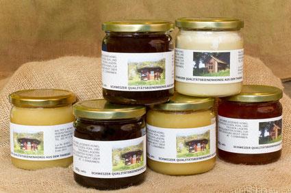 verschiedene Honig-Sorten