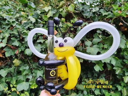 G 079 - Flaschen-Bienchen - wird individuell aus hochwertigen Modellierballons für eure Flasche angefertigt. - 12,90€