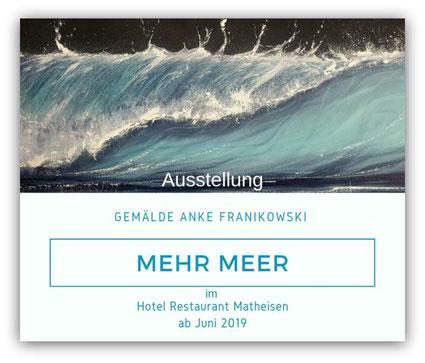 Ausstellung meiner Meeresbilder im Hotel in Köln.