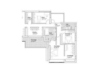 Grundrissausschnitt Einfamilienhaus