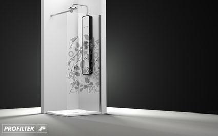 Mampara de ducha fijo Profiltek One OA-2000