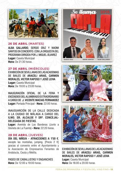 Programa Feria de El Puerto de Santa María