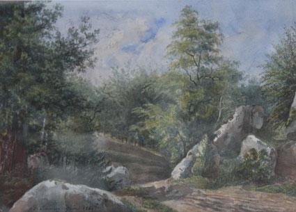 Karl Lang Archiv Büsingen Rheinmühle, Thomas Burton Watkin Forster TBWF Aquarell watercolor