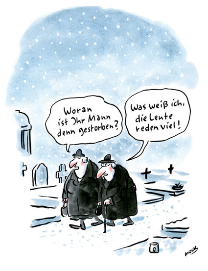 Cartoon von Mock zur Kommunikation