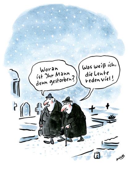 Cartoon von Mock zur Kommunikation