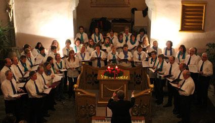 Gemischter Chor beim Weihnachtskonzert 2014