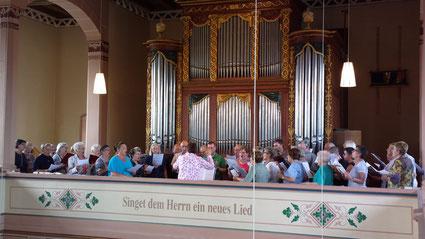 Mit vereinten Stimmen der Kirchenchöre Epfenbach und Spechbach endete die Visitation.