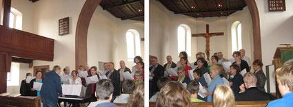 Begeisternder Auftritt beim Gottesdienst in der Ev. Kirche Nassig