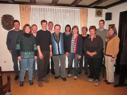 Der Vorstand im Jahr 2014 (Foto: F. Wiederhold)