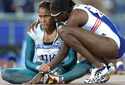 Cathy Freeman Donna Frazier Olympia Momente des Sports