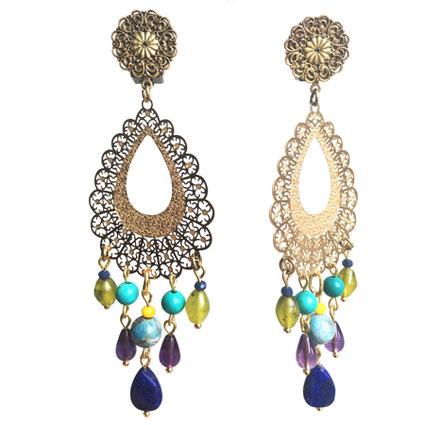 Les boucles fantaisie Galinou Création sont pleines de couleurs mode.