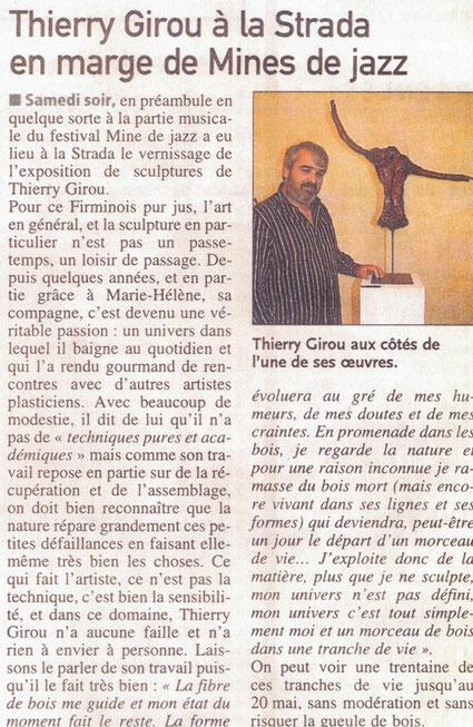 """Article : """"Centre Presse"""" Publié le 02 mai 2012"""