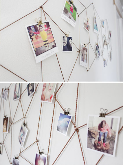 Geometric is trend and this display is a absolutely hitting it - Galler Wall DIY via thecaldwellproject.com