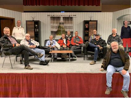 von links: Jörg Frie, Hartmut Hussel, Thomas Hundertmark, Arnd Weber, Detlef Künne, Manfred Müller, Klaus-Dieter Assel, Heinrich Düvel, Tom Hölscher, Reinhard Lächelt, Willi Schmücking-Goldmann, Peter Preiß