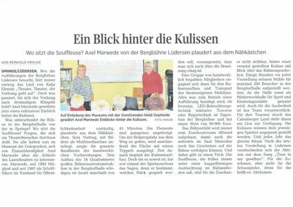 Neue Deister Zeitung vom 22.01.2019