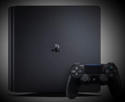 PS4 Slim (Front) und der PS4 Controller - DualShock 4