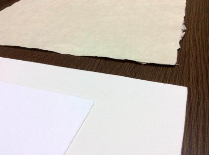卒業証書、賞状、免状用紙など別注の手漉き和紙で作製が可能です