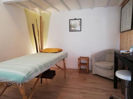 La cabine de soins.