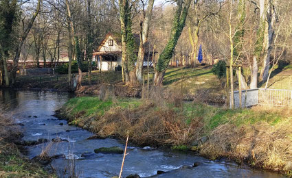 An der Buckau entlang zu Fuß oder mit dem Rad geht es zum Breitlingsee.