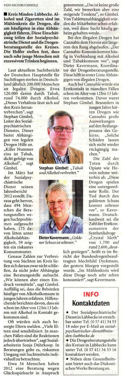 Neue Westfälische (NW) Lübbecker Land 26.04.2013