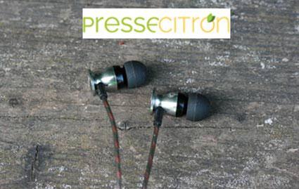 """Presse Citron :  test écouteurs intra auriculaires Erdre D101G """"L'Erdre D101G présente un rapport qualité-prix intéressant et signe une entrée en matière réussie pour la marque française Erdre Audio, nouvelle venue sur le marché de l'audio nomade"""""""