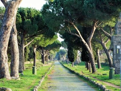 Via Appia vor den Toren Roms