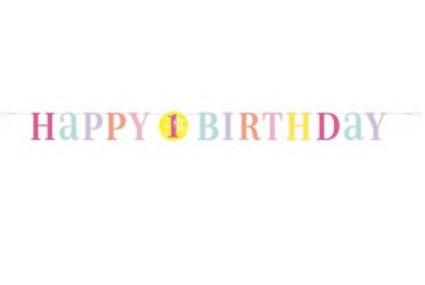 Letterslinger First Birthday meisjes € 4,25