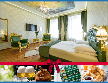 Hotel Urania Schweizerhaus  beer budweiser Prater ferry wheel