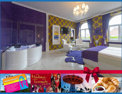 Hotel Urania Vienna Prater highlights ferry wheel Madame Tussauds Pratercard