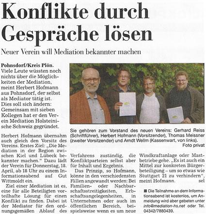 Kieler Nachrichten, 10. April 2013